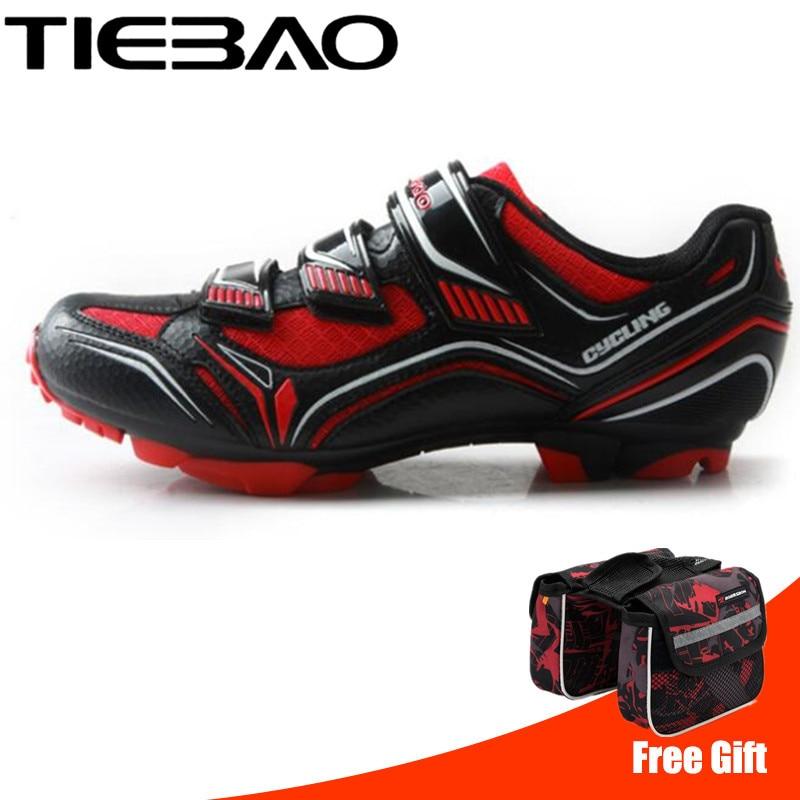TIEBAO Cycling Shoes sapatilha ciclismo mtb Racing Men Mountain Bike Shoes Bicycle Self-Locking Riding Shoes zapatillas ciclismo