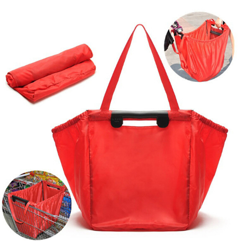 New Shopping Cart Trolley Bags Foldable Reusable Grocery Shopping Bag Eco Supermarket Bag Easy To Use And Heavy Duty