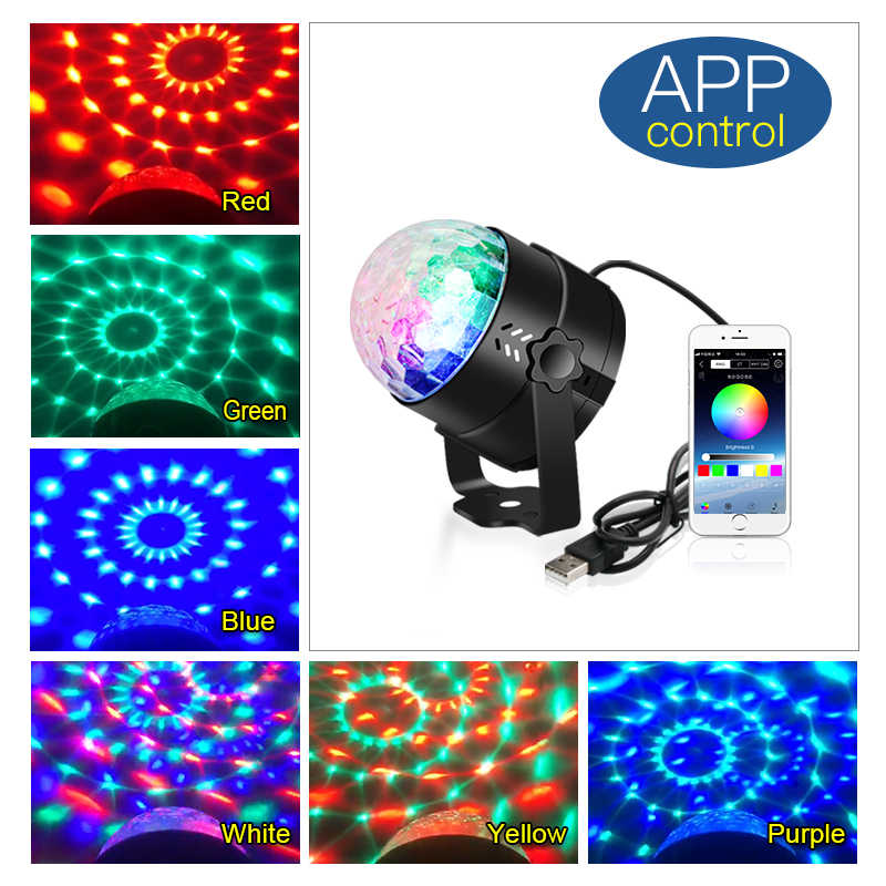 Rgb Usb Led Disco Light Ball Home Sound Party Laser Lights For Disco Lamp Moving Head Stage Light Rotating Dj Laser Light Effect Stage Lighting Effect Aliexpress