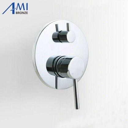 2 способов скрытого смеситель для душа Ванная комната Для ванной душ клапан панели горячей и холодной смешивания клапан с переключателем