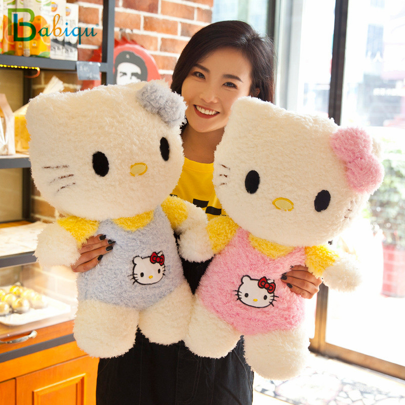 Babiqu 1pc 35cm New Kawaii Standing Hello Kitty Stuffed Soft Cartoon Plush Toys for Chidlren Lovely Kids Baby Appease Doll Gift