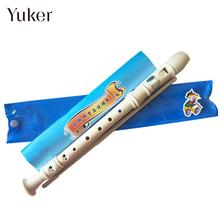 Yuker Treble Flute Clarinet Long Resin White A Soprano Flute Student Interesting