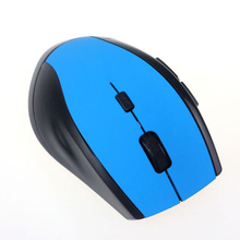 2.4GHz 6D USB Wireless Optical 1600DPI Gaming Mouse Mice For Computer PC Laptop Light blue