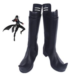 Image 1 - Anime Persona 5 Kurusu Akira Joker Cosplay Boots Shoes