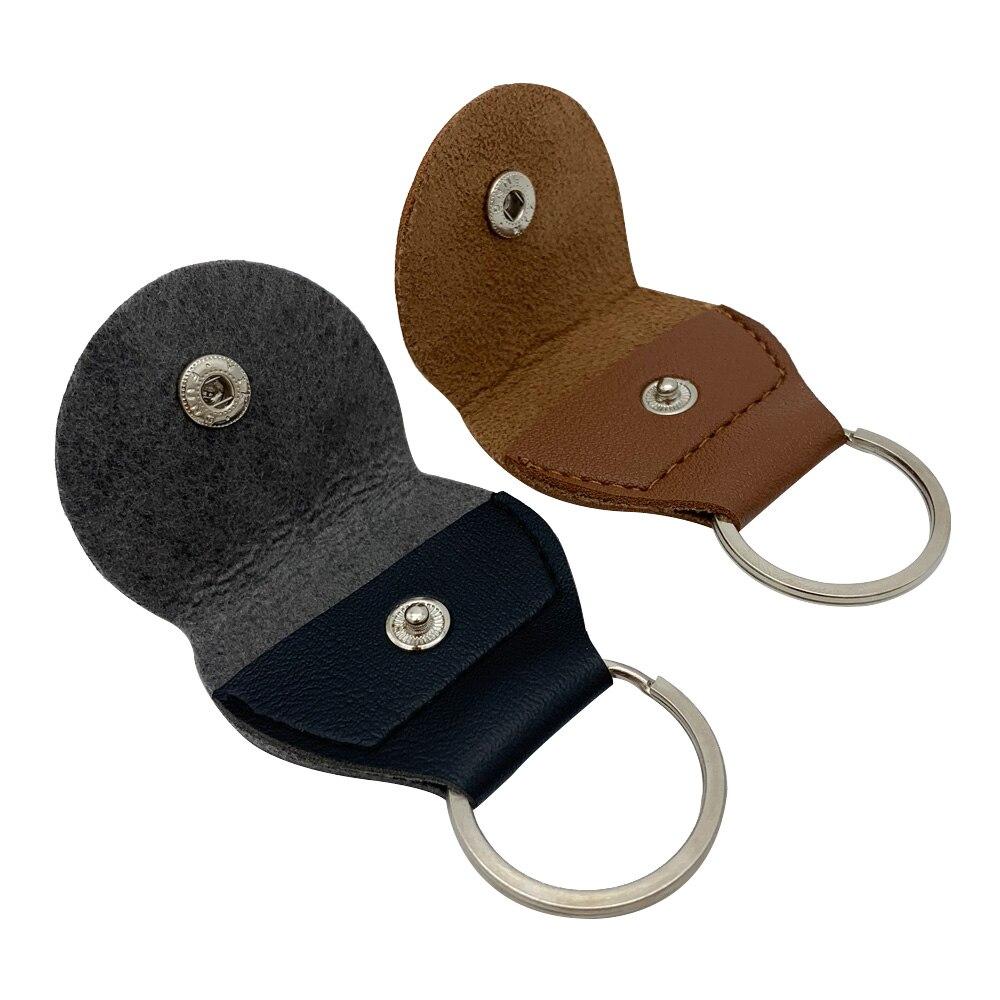 Брелок держатель медиатор сумка медиатор из ПУ кожи и металла цвет черный и коричневый мода