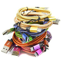 2MColorful Nylon Micro USB Cable Charger Data Sync USB Cable Cord For Android Smart Phone for tablet PC