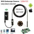 8mm 1 m 2 M 3.5 m WiFi IOS endoscopio Cámara endoscopio IP67 impermeable de la inspección para iPhone endoscopio Android PC HD cámara IP