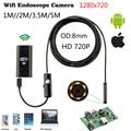 8mm 1 m 2 m 3.5 m Wifi IOS Cámara Boroscopio Endoscopio IP67 a prueba de agua de inspección endoscopio iphone android pc hd ip cámara no Usb