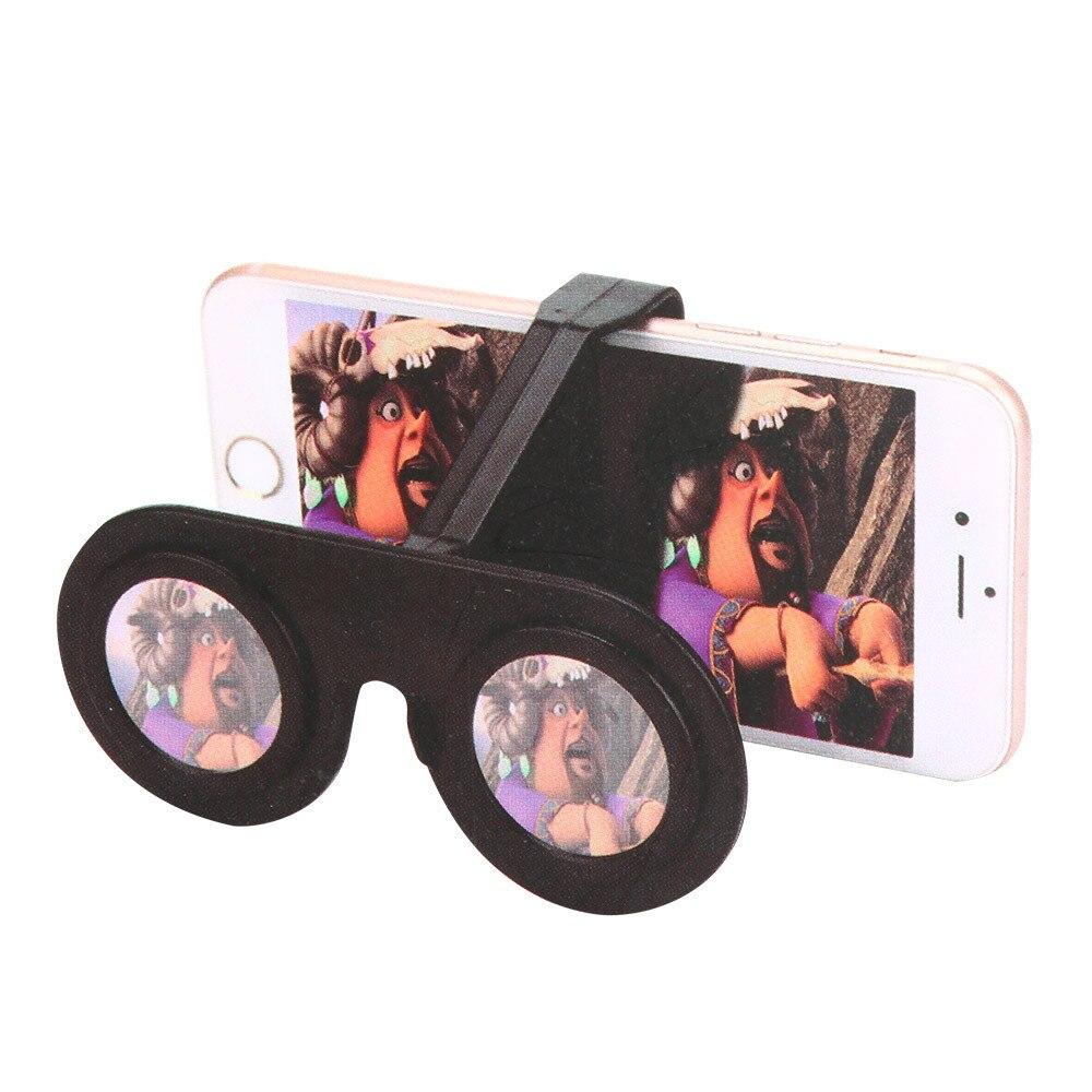 Sannysis 2017 New Arrival Mini Virtual Reality Glasses Folding Mini 3D Glasses VR For Smartphone SB For Samsung for iPhone X/8/7