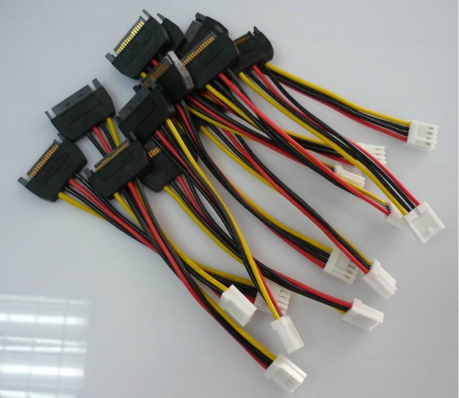 10 stks 15Pin SATA Mannelijk naar 4Pin FDD Floppy Vrouwelijke - Computer kabels en connectoren - Foto 1