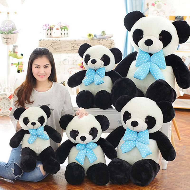 Fancytrader giant plush panda stuffed animal toys soft cuddly panda bear doll gift for friends 40cm 50cm cute panda plush toy simulation panda stuffed soft doll animal plush kids toys high quality children plush gift d72z