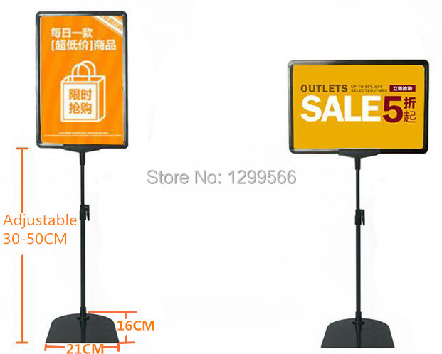 hot sale supermaket pop advertising poster display stand rack a4 frame price tag sign label promotions