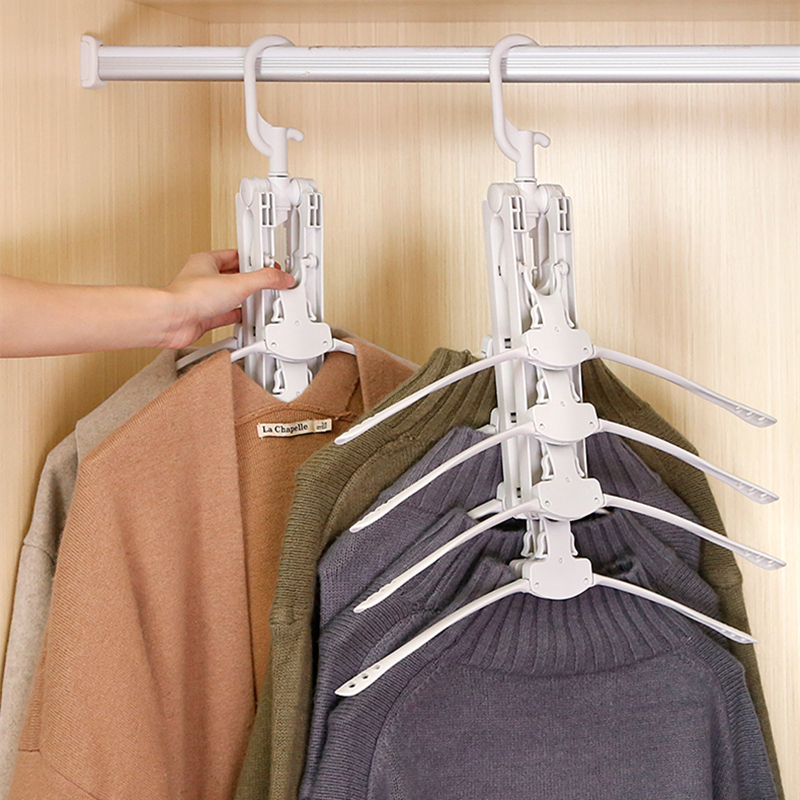 Hanger Rack Clothes Space Saver Folding Hanger Multifunctional Magic Clothes Rack for Clothing Closet Organizer Minimalist Style in Drying Racks Nets from Home Garden