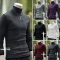 Free shipping menswear turtleneck sweater off two pieces of high quality pure cotton long sleeve coat 6 color, size M - XL