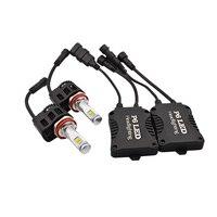 P6 H11 55W 5200Lm High Power Led Headlight Conversion Kit H11 OEM Replacement Head Light Lamp 6000K 9012 H8 H9 H11 9005 9006