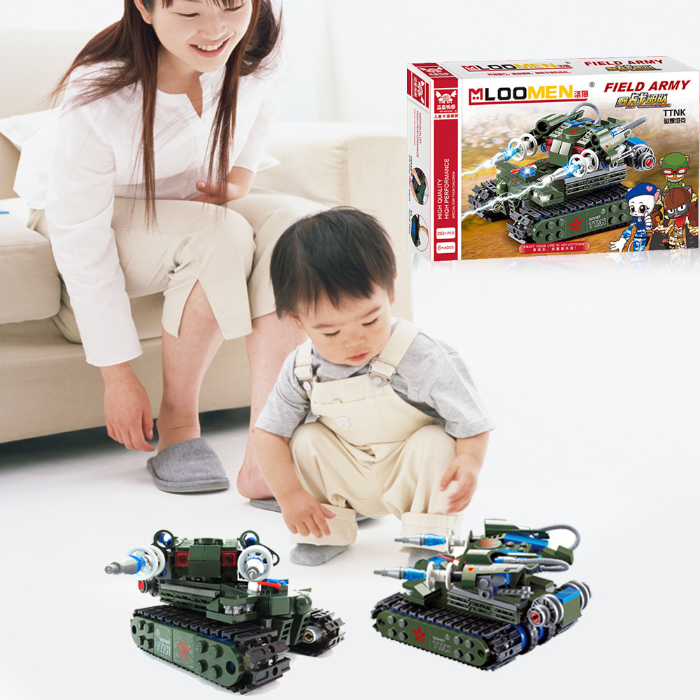 262Pcs DIY Magnetic Energy Tank Building Blocks Sets Children Assembling Birthday brinquedo Gift Children Model Building