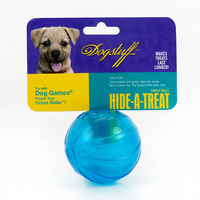 10pcs/lot Funny Dog Toys Leakage Ball Pure Natural Imported Rubber Dog Transparent Food Ball Teeth To Bite