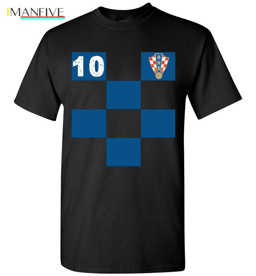 Croatia world soccer Shirt Proud Croatian Football Shirt Short Sleeve Plus Size discount hot new top free shipping t shirt in T Shirts from Men 39 s Clothing