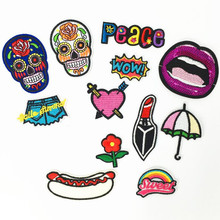 Peace Letter  Repair The Hole Badge Patch Embroidered Patches For Clothing Iron On Close Shoes Bags Badges Embroidery DIY