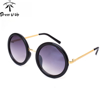 2015 New Colorful Vintage Sunglasses Women Brand Designer Retro Round Coating Sunglass Female Oculos De Sol