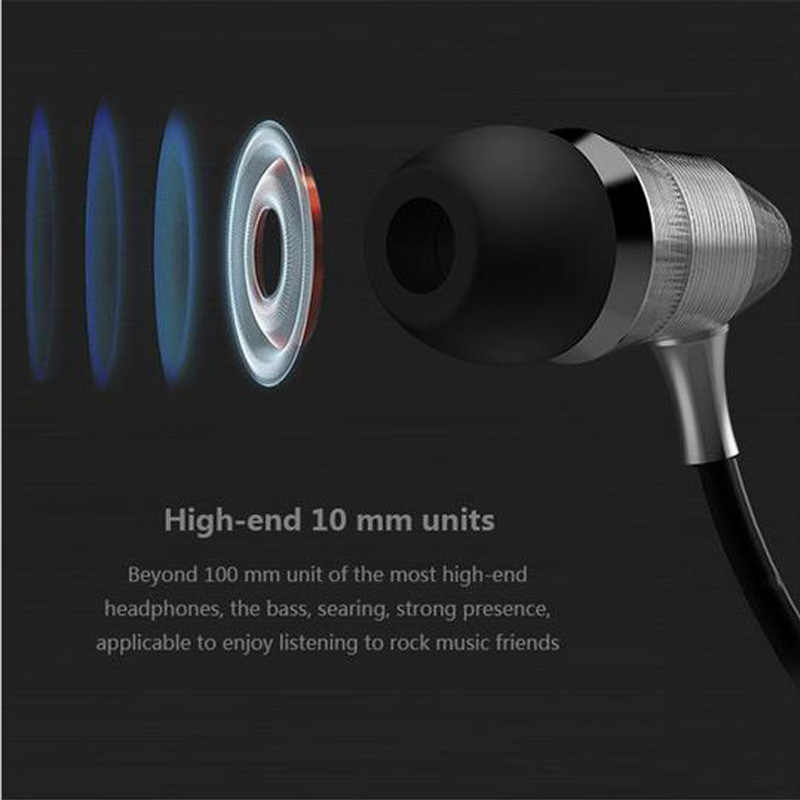 Headphones stereo earbuds for iphone Samsung Huawei MP3 3.5MM sport Earphones Super Bass metal Head phone hifi running headsets