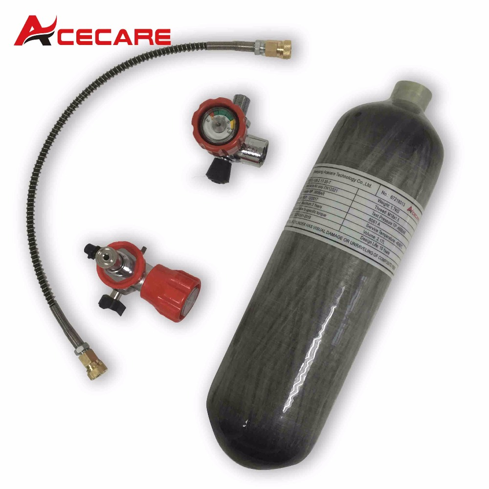 AC1217101 2.17L CE 30Mpa Carbon Fiber SCUBA Tank Paintball Tank Regulator Quick Release Coupling Dive Tank Airforce Condor Part