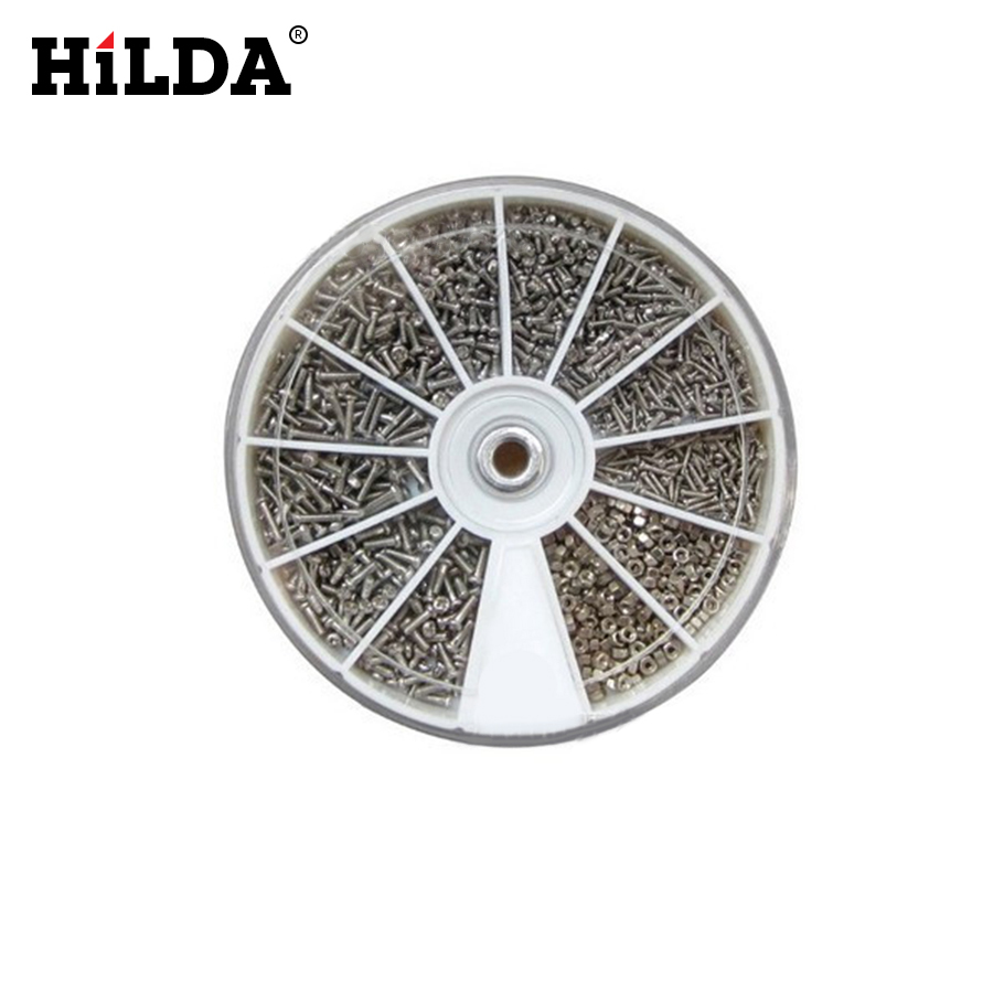 HILDA 12 Kinds 600Pcs/set of Stainless Steel Screws Nuts Accessories With One Screwdriver For Hand Tool Repair 12 kinds 600pcs set of stainless steel screws electronics nuts assortment for home tool kit m1 m1 2