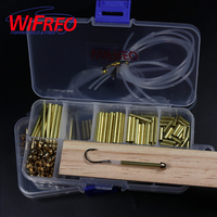Wifreo Tube Fly Tying System Combo Set 3mm Brass Tube Cones Liner Tube Junction Tube Salmon