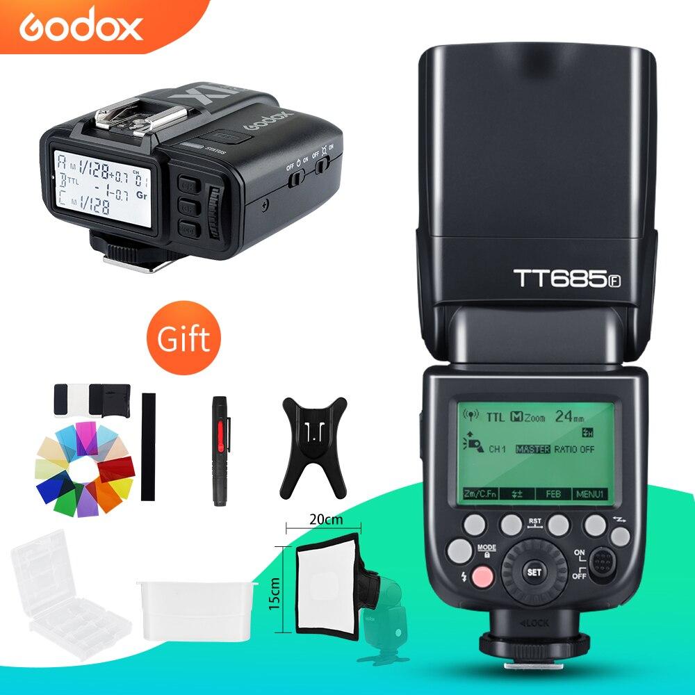 Godox TT685F 2 4G HSS TTL GN60 Flash Speedlite X1T F Trigger Transmitter Kit for Fuji