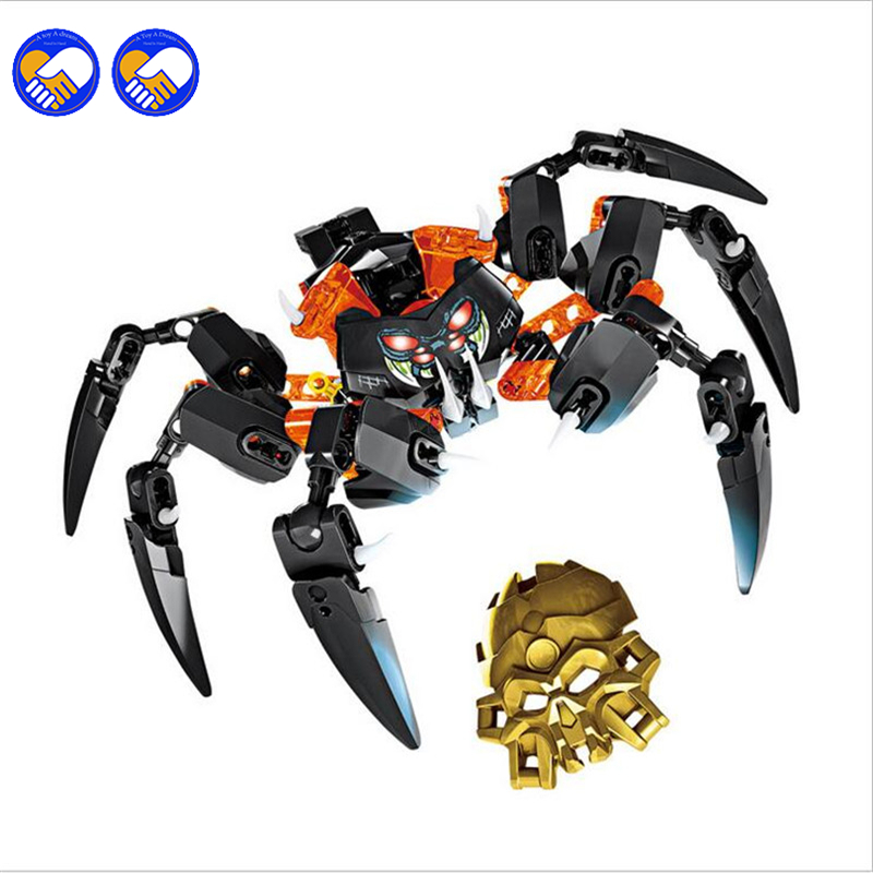 A toy A dream BionicleMask Light XSZ 708-4 Children's Lord Of Skull Spider Bionicle Building Block Toys compatible Legoingly цена