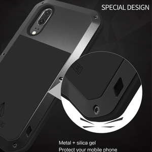 Image 2 - Love Mei Armor Metal Case For Huawei P20/P20 PRO/P20 Lite Cover Aluminum Powerful Shockproof Cover with Tempered Glass