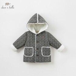 DB8706 dave bella baby jungen jacke kinder oberbekleidung mode mantel schwarz weiß mantel