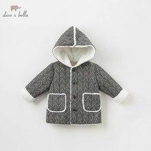 Db8706 데이브 벨라 베이비 보이 자켓 어린이 겉옷 패션 코트 블랙 화이트 코트