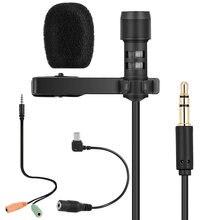 Micrófono con clavija de 3,5mm de R-555, microcondensador con enganche, Cable Lavalier para IPHONE y PC
