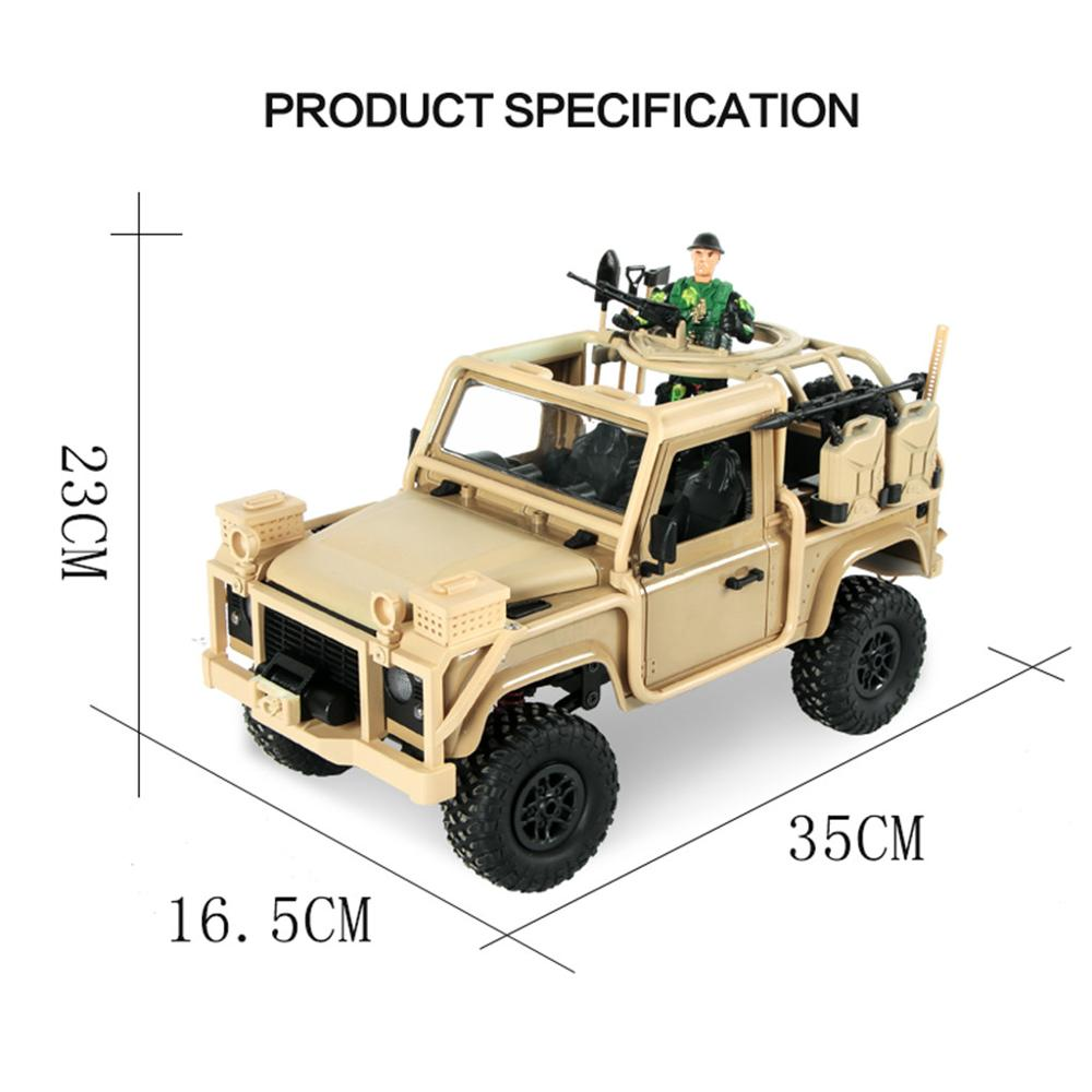 Image 3 - MN 96 RSOV 1/12 2.4G 4WD Crawler RC Car Remote Control Jeep With LED Light-in RC Cars from Toys & Hobbies