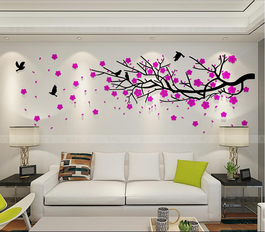 2017 3D tiga dimensi stiker dinding TV dinding sofa latar belakang - Dekorasi rumah - Foto 3