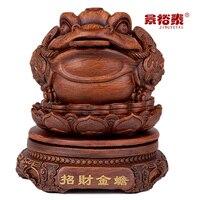 Extra Small имитация резьбы по дереву трехногий жаба украшения Лаки Фэн шуй счастливый талисман стол украшения