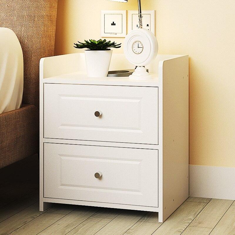 Lk601 simples quarto armário de armazenamento com gaveta moderna mesa cabeceira madeira fácil montagem redonda lidar com mesa-in Mesinhas de cabeceira from Móveis on Surprise Warm Store