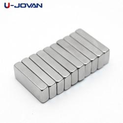 U-JOVAN 10 pces 15x6x3mm n35 super forte ímã bloco ndfeb cuboid terra rara neodímio ímãs