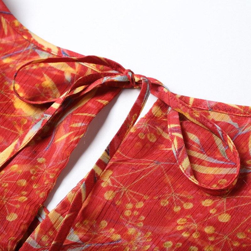 Red Impression D'été 2018 Qualité Européenne Mince À V Robes Haute Femmes Nouveau Élégant Robe Courtes Ceinture Col Manches Une Ligne Sexy COqxR