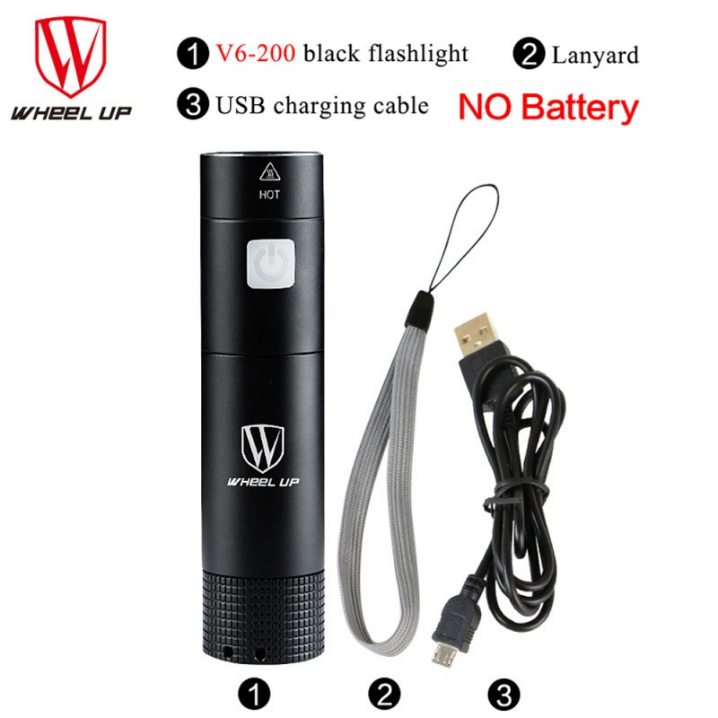 Black 3000 LM Handy Mini Flashlight Bike Front Torch Light 5 Modes Portable Outdoor Camping Cycling Safety <font><b>Lamp</b></font> Bike Accessories