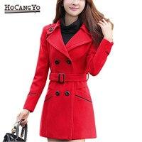 HCYO Women Coats and Jackets Warm Thick Wool Blends Outwear Coats Jacket Womens Long Overcoat Women Coat Autumn Winter Plus Size