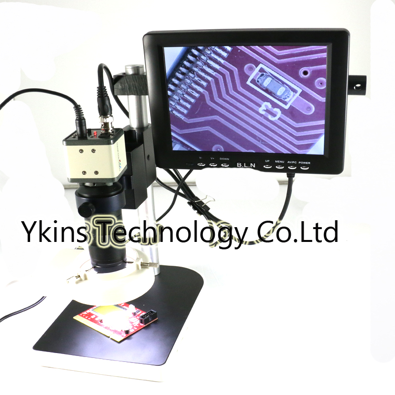 BNC CCD Digital Industry Microscope Camera+130X C-Mount Lens+8monitor screen 800 TVLVideo Output for Industry Lab PCB industry vga camera with remote control 130x c mount glass lens for industry lab microscope camera cctv
