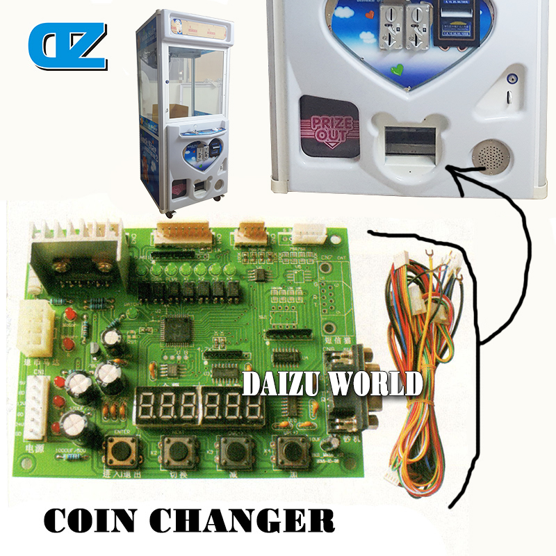 Coin Changer Mainboard For Toy Crane Machine , Doll Machine , Bill Acceptor With Change Coin Function , Arcade Games small condoms vending machine with coins acceptor with 5 choices