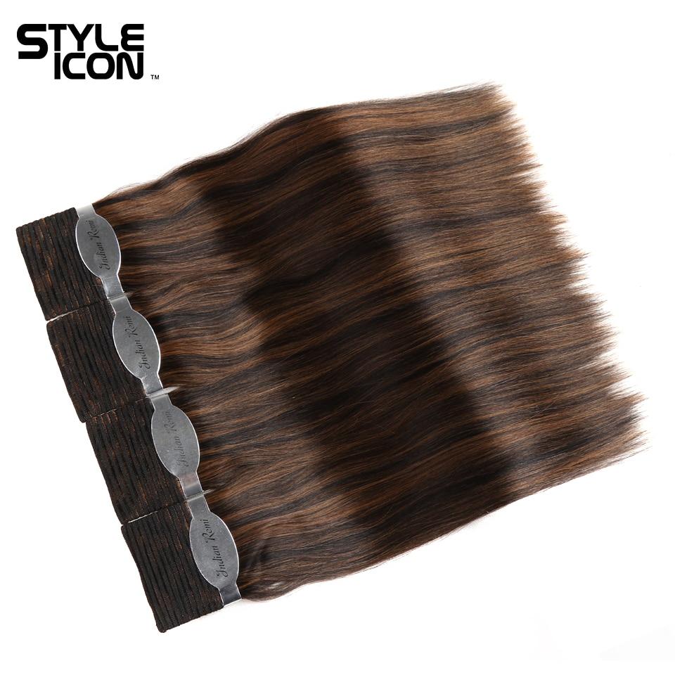 Styleicon Molhado E Ondulado Remy Indiano Cabelo Humano 4 Pacotes Negócio Paixão de cabelo Weave Bundles Extensões de Cabelo Cor de Piano 33 4/27 99J