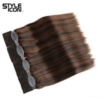 Styleicon Wet And Wavy Human Hair 4 Bundles Deal Indian Remy Hair Passion Weave Bundles Hair Extensions Piano Color 33 4/27 99J