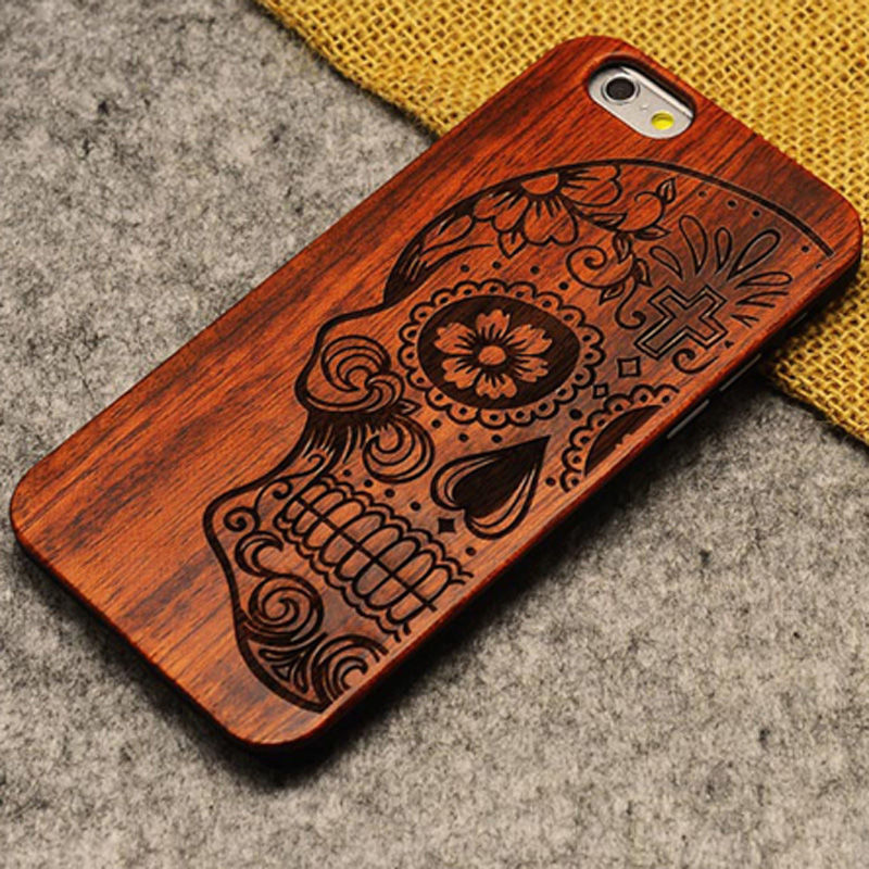 wooden iphone case new brand thin luxury bamboo wood phone for iphone 5 7750