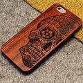 Nueva marca delgada de lujo de madera de bambú del teléfono case para iphone 5 5s 6 6 s 6 más 6 s plus 7 7 más cubierta de madera de alta calidad a prueba de golpes