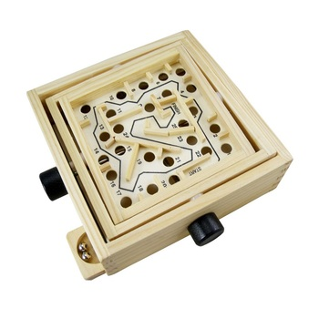 Mini Wooden Labyrinth Board Game Ball Wood Puzzle Magic Cube Children Desk game Pinball Maze Board Game Family educational Toys iq car intelligence racing puzzle board game funny entertainment game play family party children educational toys