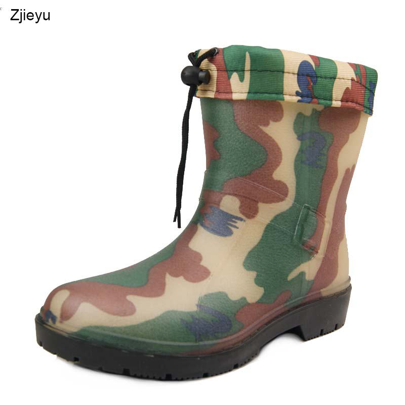 2017 top hot sale Winter Men middle tube warm rain boots Men's bots camouflage fishing boots with liner galoshes washing boots rwby letter hot sale wool beanie female winter hat men